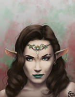 Elven Warrior Princess by KiraElusia