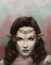 Elven Portraits: The Warrior Princess by KiraElusia
