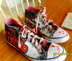 The Walking Dead shoes by Sarahlowe97