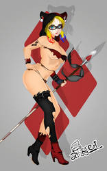 Savage Land Harley Quinn by Angelll07 by Les6Les9