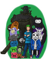 Jacksepticeye and friends by Fallenangelcas98