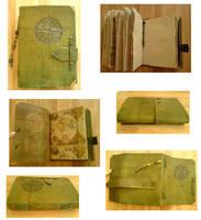 Handmade Leather Book-Compass by alylovesu2