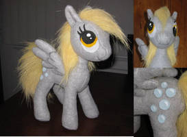 Derpy Hooves plush, different views by MaewynShadowtail