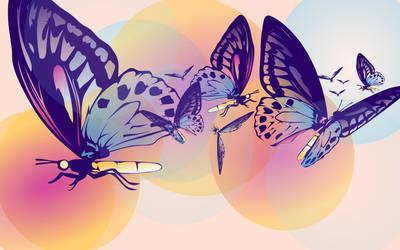 Transparent Butterflies by keyzpoof