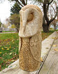 Protector Owl Carving by RiverOtterWidget