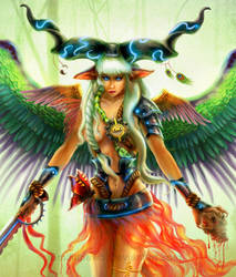 Goddess of Creatures close-up by EmiliaPaw5