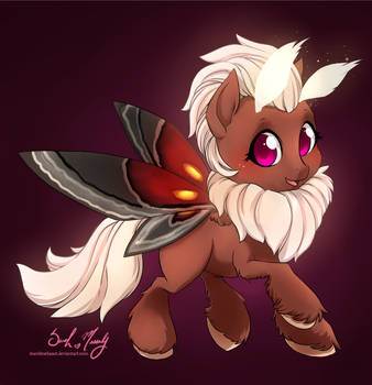 Moth Pony (commission) by StarshineBeast