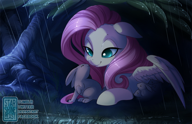Waiting Out The Storm (commission) by StarshineBeast