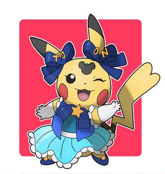 Commission - MMHM Pikachu - Toon Disney outifit by Cid-Fox