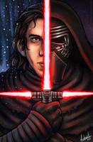Star Wars: TFA - Kylo Ren by Lukael-Art