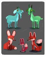 Goats by stottt