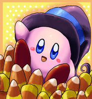 Candy Corn Kirby by StarFaerieNomad