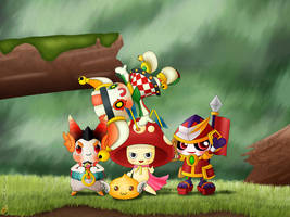 Happy Moment Grand Chase Pets by LLacerda