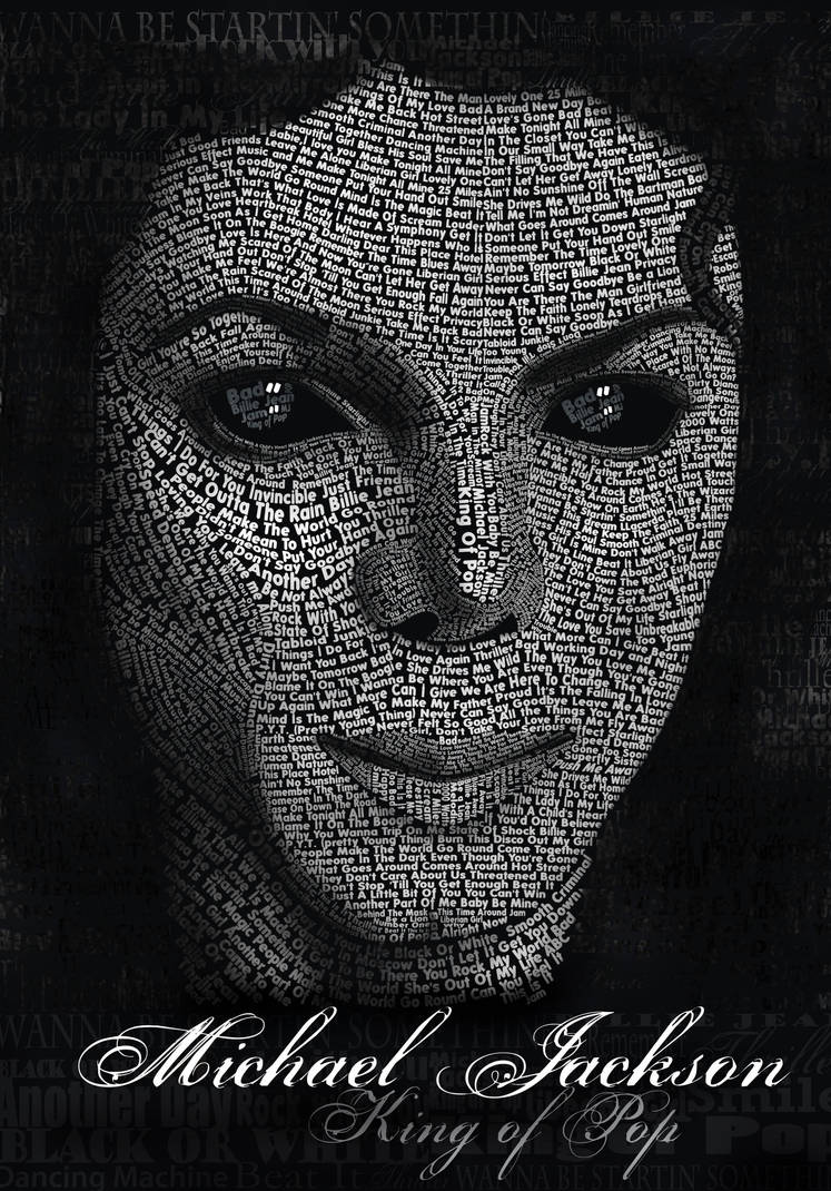 Michael Jackson Typography by LLacerda