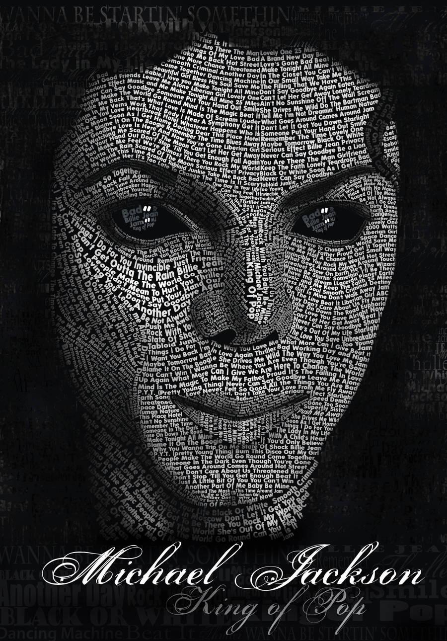 Michael Jackson Typography by LLacerda