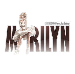 Marilyn Monroe logo by Elias-Chatzoudis