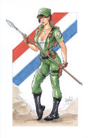 Lady Jaye GI joe by Elias-Chatzoudis