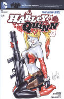Harley Quinn blank cover #0 by Elias-Chatzoudis
