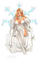 Emma Frost Original Art by Elias-Chatzoudis