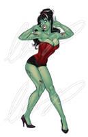 Sexy Zombie Pinup Girl by Elias-Chatzoudis