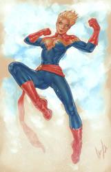 Captain Marvel by Elias-Chatzoudis