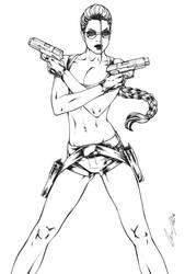 Lara Croft Inks by Elias-Chatzoudis