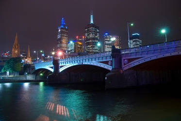 Melbourne at night by danika79
