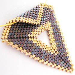 Purple with Gold Triangle by SandFibers