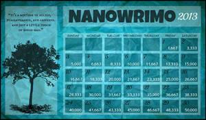 Nanowrimo Calendar - 2013 by Spooneh21