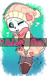 [ CLOSED ] Skeleton Sweetheart Adopt by NobleChinchi
