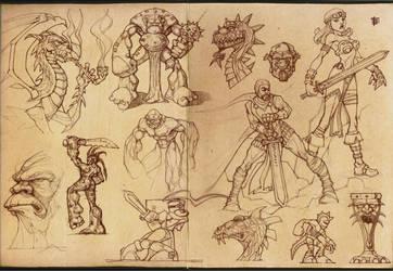 Fantasy sketch compilation by berkheit