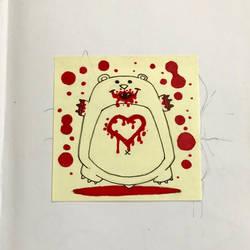 Bloody heart bear by berkheit