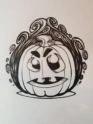 Halloween Pumpkin in flames by berkheit