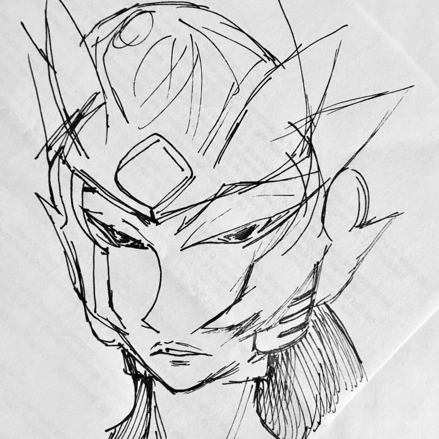 Inktober 2081 8: Random Reploid by Goatllama