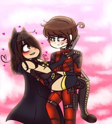.:: Deadpool and BatMeme ::. by PockyCatInsanity