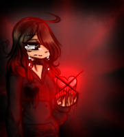 .:: You cut my heart.. ::. by PockyCatInsanity