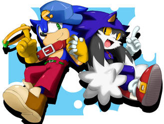 Sonic and klonoa by shoppaaaa