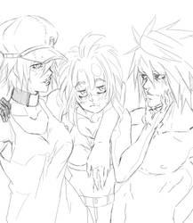 Happyfamily Sketch by Blazhxxx