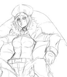 OC: Victoria [sketch] by Blazhxxx