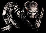 Alien vs Predator Scratchboard by RTyson
