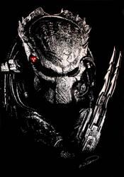 Predator AVP scratchboard by RTyson