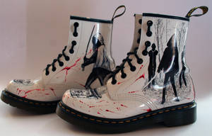 The Walking Dead customised Dr Martens Left side by RTyson