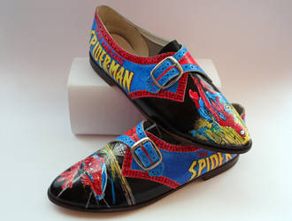 Spider-Man customised shoes by RTyson