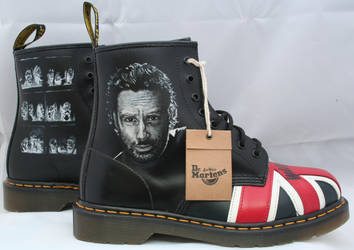 Walking Dead Dr Martens, Right side. by RTyson