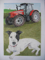 terrier and tractor commission by RTyson