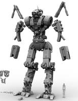 M.I.D.E. Mech Arms Concept WIP by Donvius