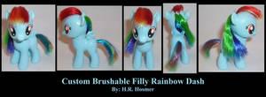 Filly Rainbow Dash Brushable by Gryphyn-Bloodheart