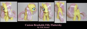 Filly Fluttershy Brushable by Gryphyn-Bloodheart