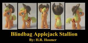 Blindbag Applejack Stallion by Gryphyn-Bloodheart