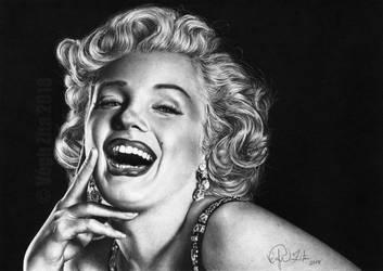 Marilyn Monroe pen drawing by 22Zitty22